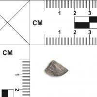 Ćwiartka srebrnej monety arabskiej (dirhem)