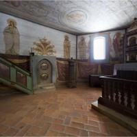 Muzeum Budownictwa Ludowego - Park Etnograficzny w Olsztynku - panorama wnętrza kopii Kościoła z Rychnowa