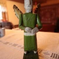 """Rzeźba ludowa """"Anioł stróż"""""""