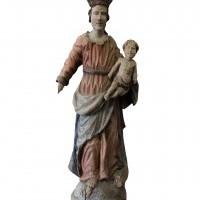 Rzeźba ludowa - Madonna z Dzieciątkiem